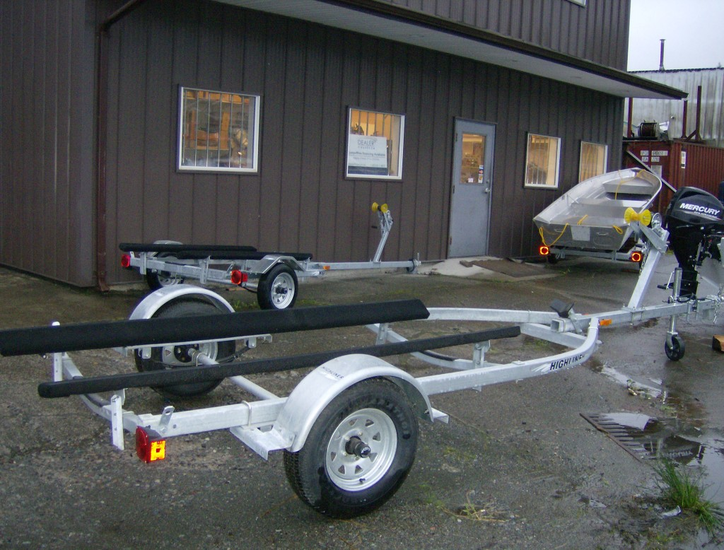 Boat trailers at Bridgeview Marine